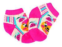 """Шерстяные носки детские  """"Пампух 1 Колобок розовый"""""""