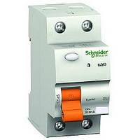 Дифференциальный выключатель нагрузки (УЗО) ВД63 2P 25A 30МA