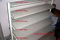 Парапет бетонный на забор 160х1250х35 мм серый
