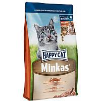 Корм для взрослых кошек Minkas Geflugel с птицей 10,0 кг супер-премиум (4050) Happy Cat (Хэппи Кэт)