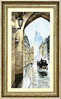 """Набор для вышивания крестом Crystal Art ВТ-171 """"Старый город, умытый дождем"""", 19.5x39 см"""