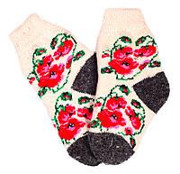 """Шерстяные носки детские """"Пампух 4 Маки красные"""""""