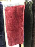 Боа, шарф, накидка, цвет бордовый