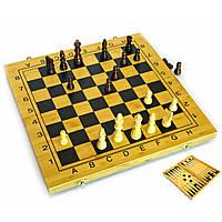 Нарды+шахматы из бамбука 29,5х29х2,5 см
