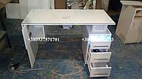 Стационарный маникюрный стол с бактерицидной УФ лампой.  Модель V171 белый