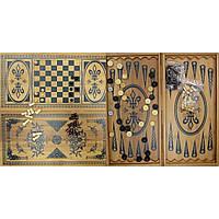 Нарды+шахматы из бамбука 60х30х4 см 6030-C