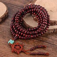 Четки из красного сандалового дерева216 бусин на удачу