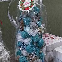 Новогодняя елочка топиарий из сезаля
