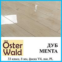 Лакированный ламинат толщиной 8 мм Oster Wald Piano 33 класс Дуб Menta, фото 1