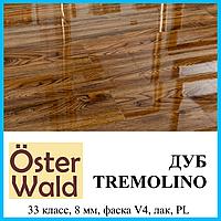 Глянцевый лакированный ламинат толщиной 8 мм Oster Wald Piano 33 класс Дуб Tremolino