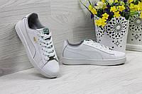 Кроссовки Puma Suede женские  (белые), ТОП-реплика, фото 1