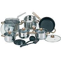 Набор посуды из нержавеющей стали 17 пр Maestro MR-2506