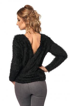Модная женская кофта с открытой спиной, фото 3