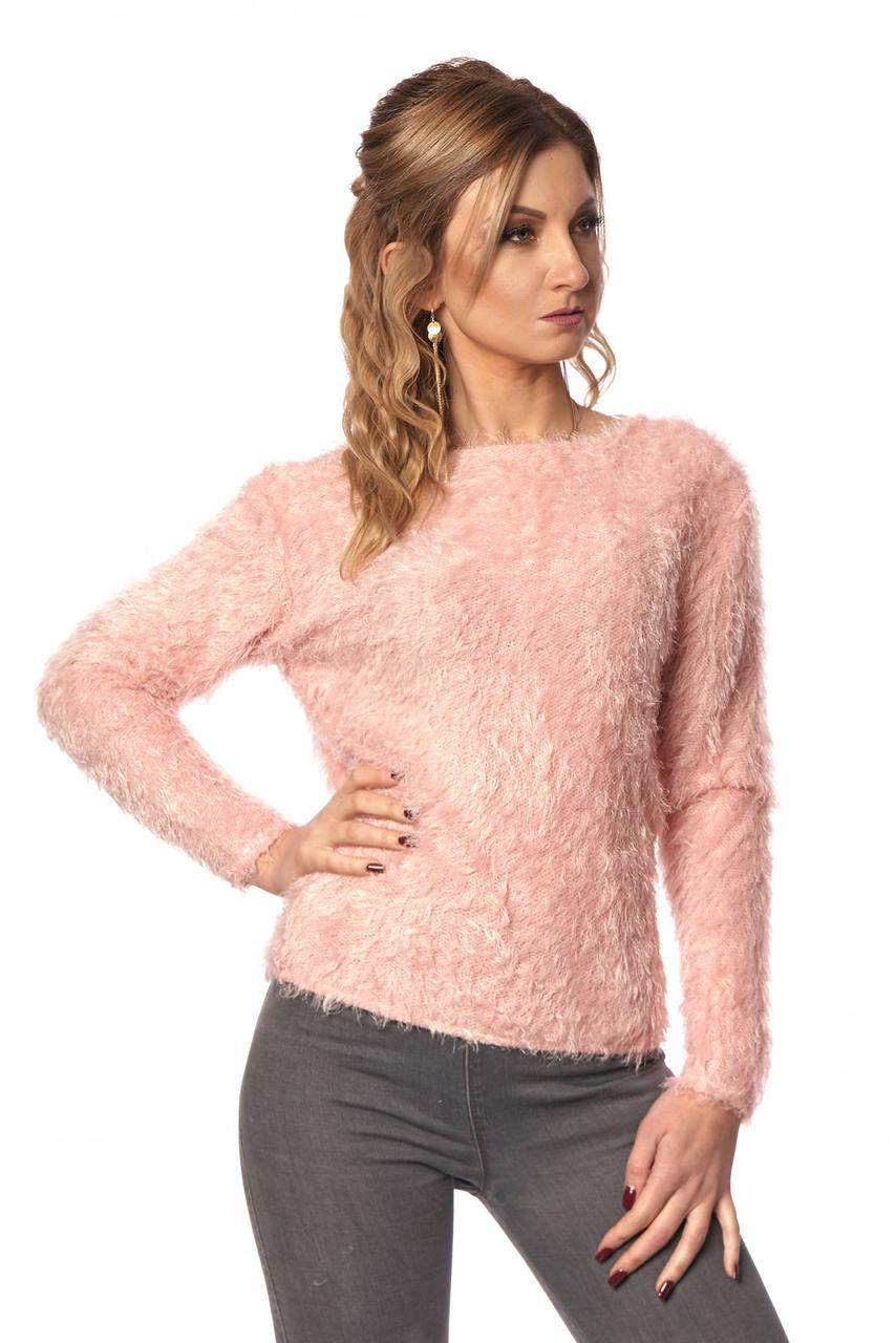 Модная женская кофта с открытой спиной