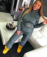 Зимний лыжный костюм в комплекте с поясной сумкой графитовый цвет Дора, лыжные костюмы оптом от производителя