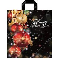 Пакет петля Новогодний 38х42 90мкр