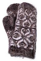 Варежки из козьего пуха женские