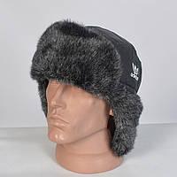 Теплая мужская шапка-ушанка с искусственным мехом (код 29-773)