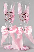 Свадебные бокалы для шампанского, цвет ПУДРА