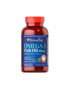 Puritan's Pride Omega-3 Fish Oil 1000 mg 250 caps