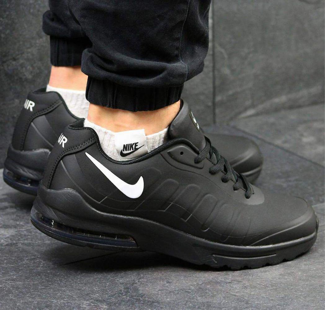 3c6c296c Мужские стильные кроссовки Nike Air Max демисезонные 3948 чисто чёрные -  Интернет-магазин