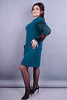 Роуз. Стильное платье для женщин супер батал. Бутылка.