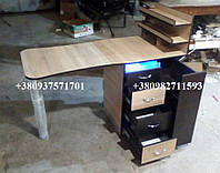 Складной маникюрный стол с ультрафиолетом. Модель V177 цвет комбинированный, фото 1