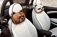 Комплект подушек подголовников 2 штуки в автомобиль с 3D печатью животных.