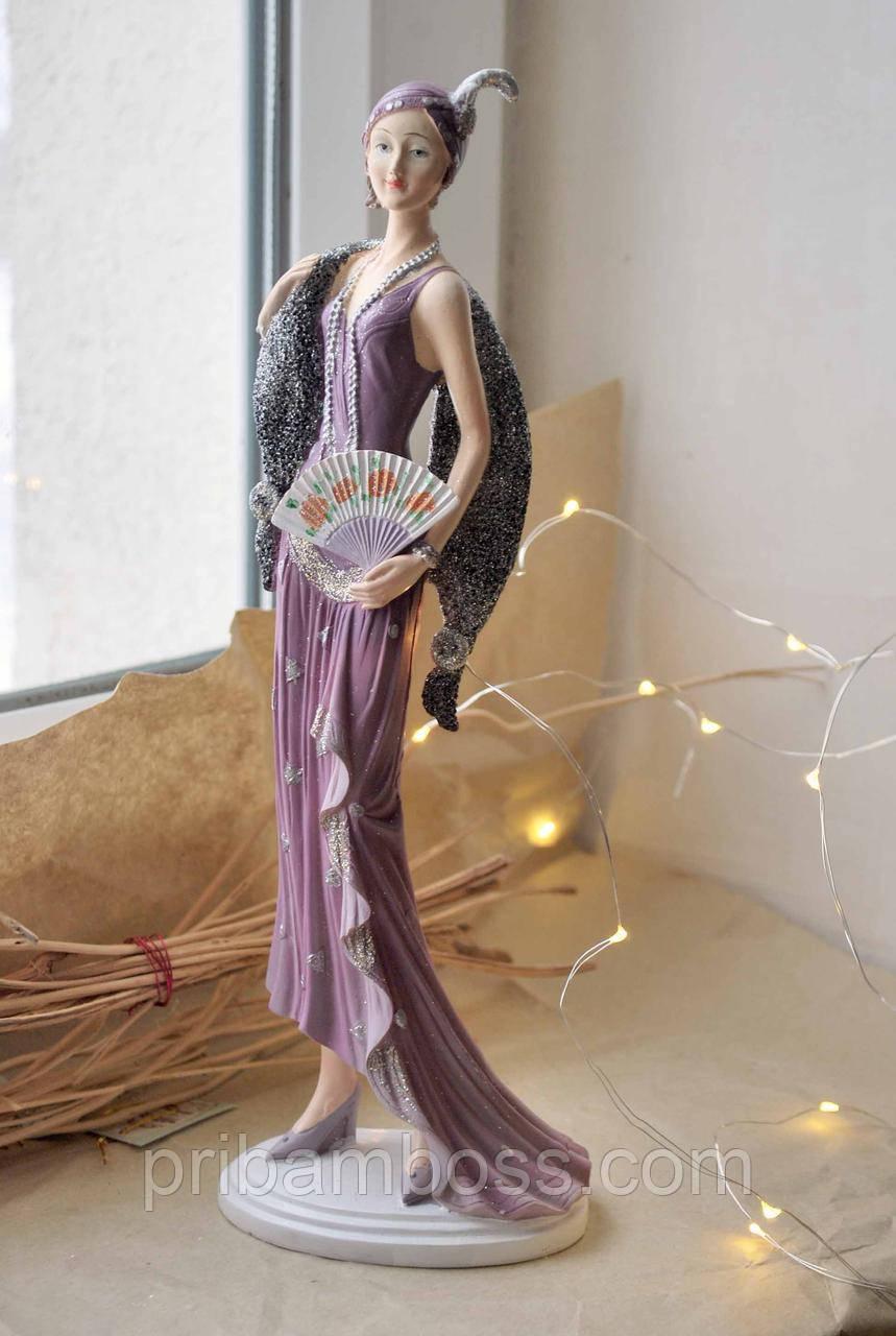 Декоративная статуэтка Девушка в стиле великий Гэтсби  31см