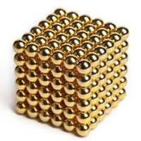 Неокуб, NeoCube 5 мм, золотой / магнитный конструктор