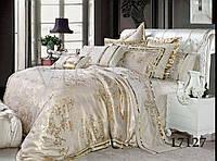 "Комплект постельного белья ""Viluta"" Tiare сатин-жаккард (+4 наволочки) Евро Вилюта № 1727"