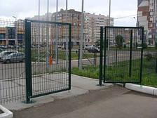 Ворота ЗАГРАДА (распашные в полимерном покрытии ППЛ)