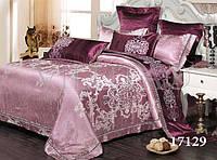 "Комплект постельного белья ""Viluta"" Tiare сатин-жаккард (+4 наволочки) Евро Вилюта № 1729"