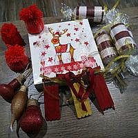 Набор новогодних игрушек ручной работы