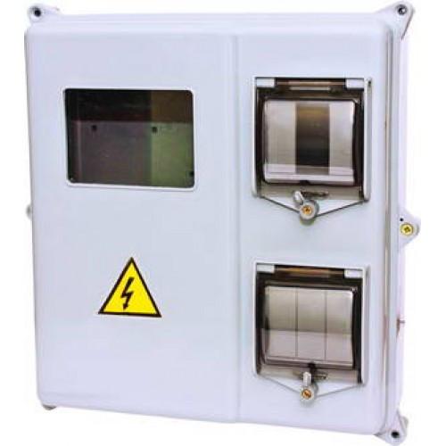 Ящик герметичный  для 1-3-ф электросчётчика КДЕ-3