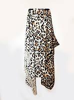 Женский шарф, палантин, зимний, шерсть с хлопком