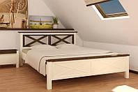 Кровать двуспальная деревянная Нормандия 1.6м