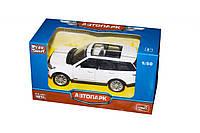 JT Машина Land Rover 3 металлопластик 6524, белая