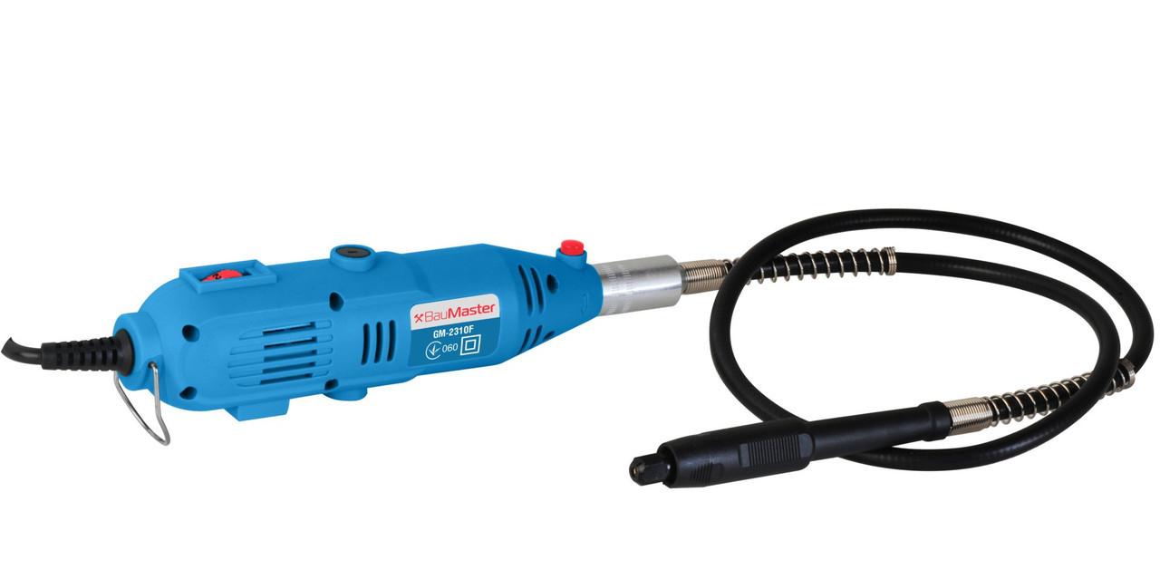 Гравер электрический BauMaster GM-2310F, гибкий вал 1м