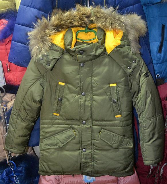 Зимова куртка для хлопчиків 8 років LEBO хакі 94f5b9aae7940