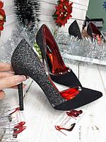 Блестящие крутые туфли женские