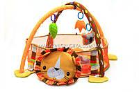 Детский коврик-манеж «Львенок» 63571 с шариками