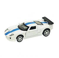 Машина спортивная белая, металл