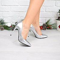 Туфли лодочки женские Classic серебро 4008, лодочки