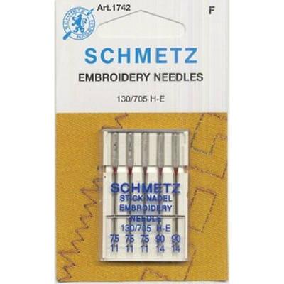 """Набор игл """"Schmetz"""" вышивальные № 75-90 (5 шт.)"""