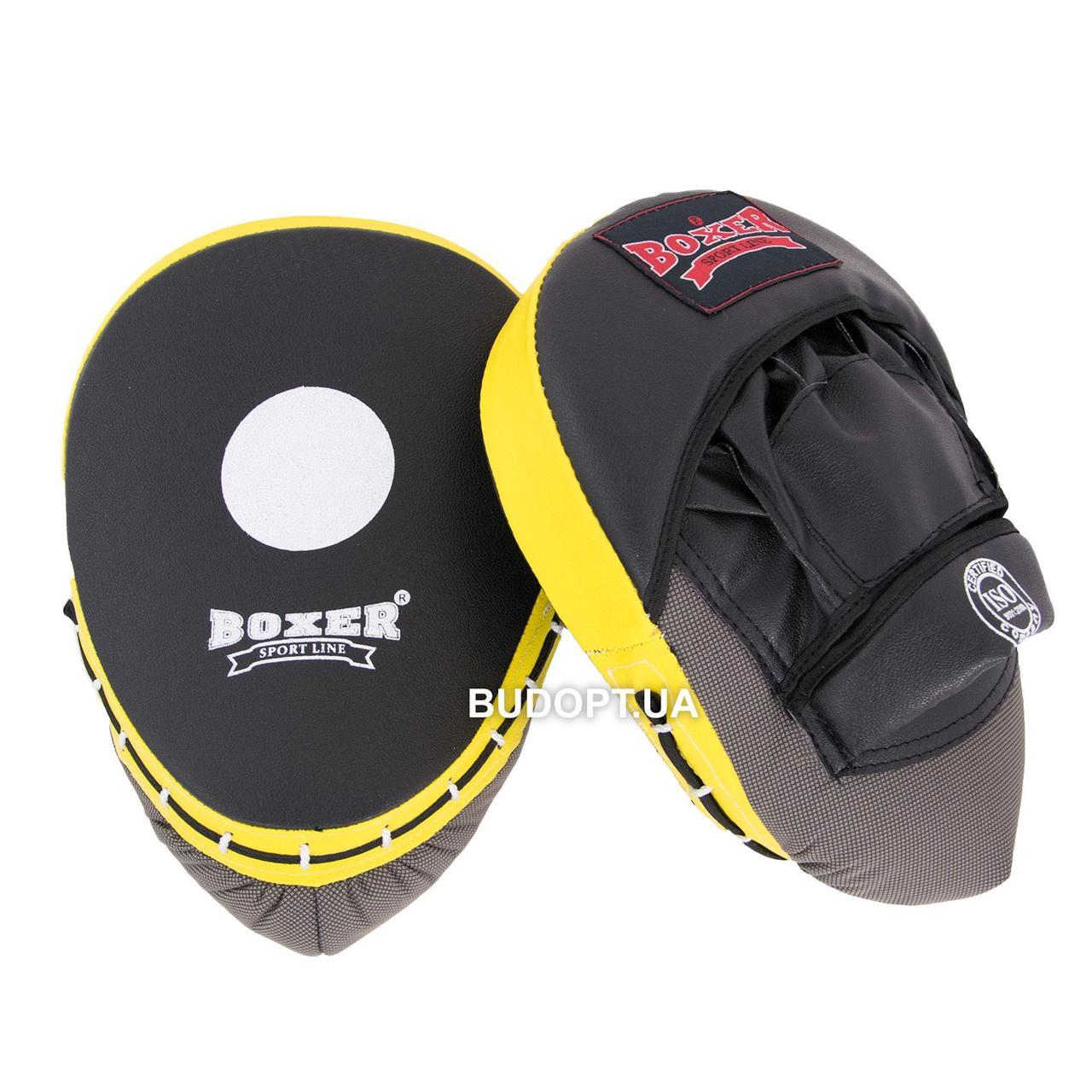 Лапы боксерские гнутые из кожвинила Boxer Элит (bx-0043) - OSPORT.UA - интернет магазин спортивных товаров в Киеве