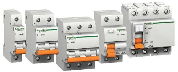 Дифавтоматы, узо (устройства защитного отключения) Schneider Electric(домовой)