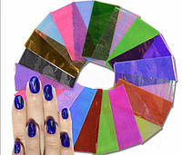 Пленка для ногтей, битое стекло, 10 см., набор , фото 1