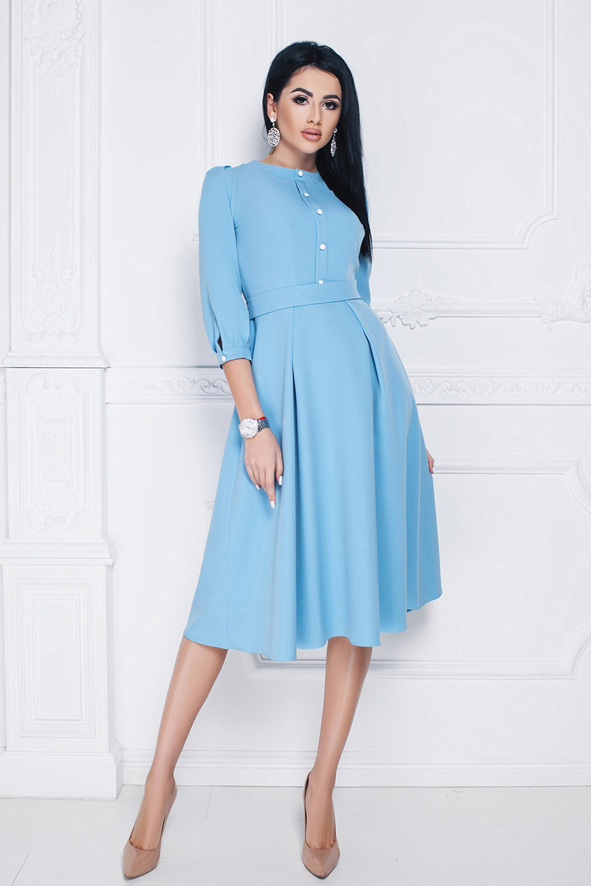 Платье классическое Алита в голубом цвете