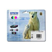 Комплект струйных картриджей Epson для Expression Premium XP-600/XP-605/XP-700 №26 B/C/M/Y (C13T26164010)